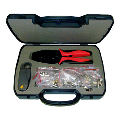 Installer Tool Kit (RG59/58 Crimp Tool + Stripper) 40 x BNC1 SD