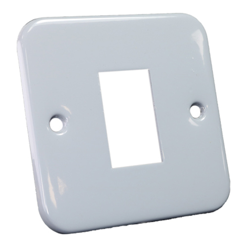Metal Faceplate for 1 x LJ6C Fascia