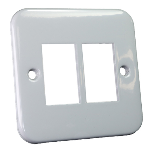Metal Faceplate for 2 x LJ6C Fascia