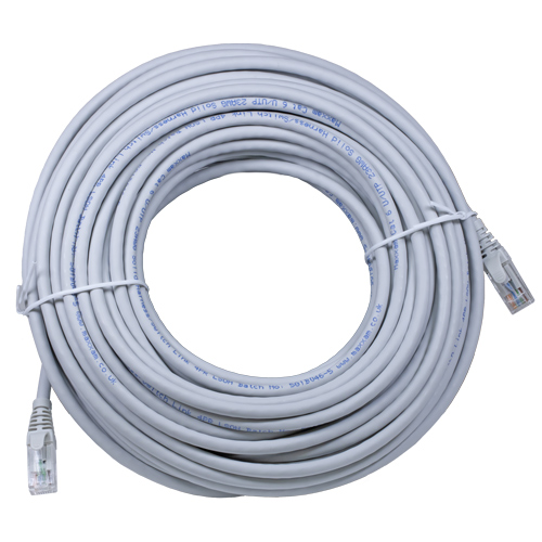 30m Cat6 RJ45 Grey U/UTP LSOH Solid Harness Patch Lead