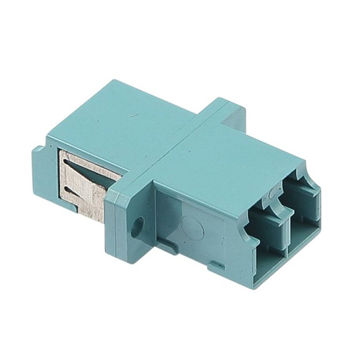 OM3 LC Duplex Adaptor Aqua