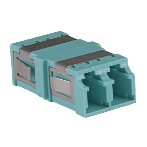 OM3 LC Duplex Adaptor Aqua (No Flange)
