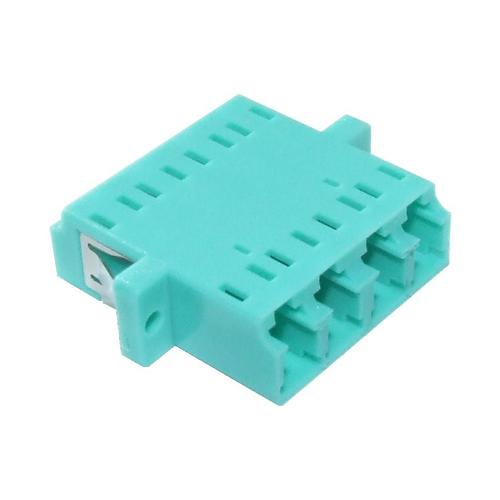 OM3 LC Quad Adaptor Aqua