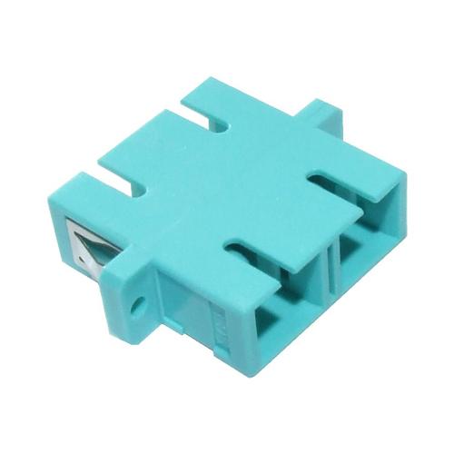 OM3 SC Duplex Adaptor Aqua