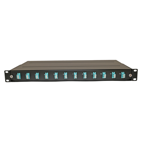 Loaded Fibre Patch Panel OM3 24 Fibre - 12 x LC Duplex