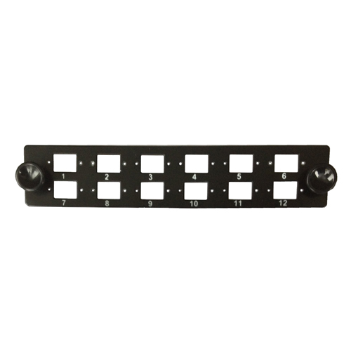 MPFE Front Plate 12 x LC Duplex (Unloaded)