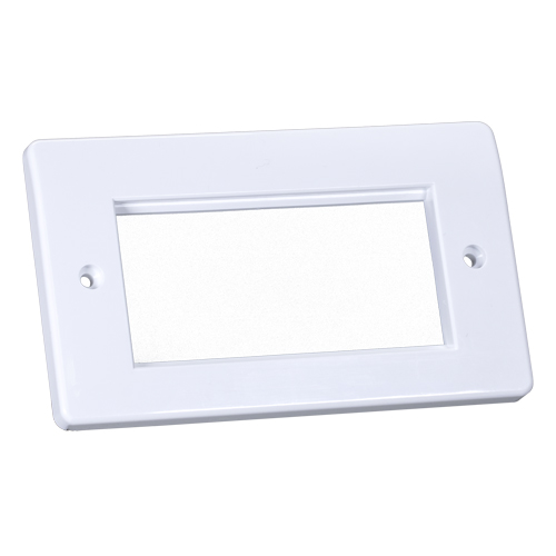 Office Style Faceplate 50mm x 100mm Double Gang White
