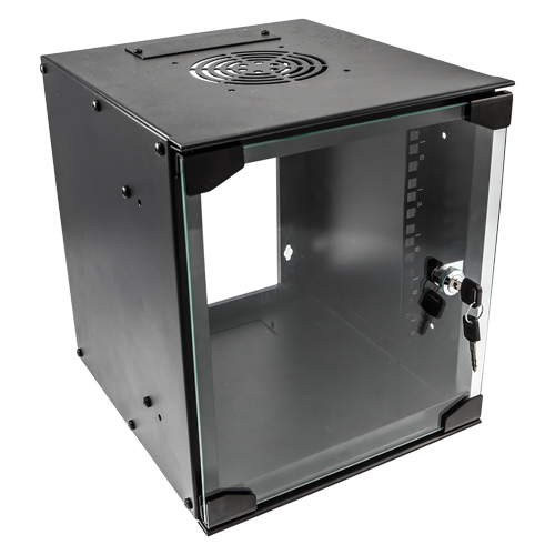 6u 10 inch SOHO Wall Mount Cabinet 280W x 310D Black (Flat Pack)