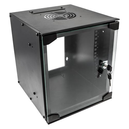 9u 10 inch SOHO Wall Mount Cabinet 280W x 310D Black (Flat Pack)