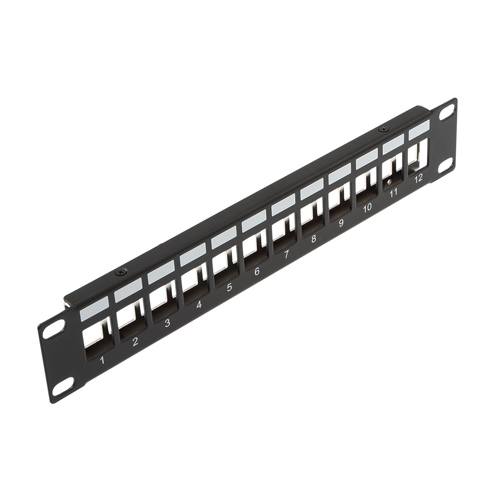 1u 10 inch 12 Port Keystone Patch Panel